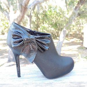 """Madeline Stuart 5"""" heel booties with side zipper"""